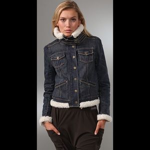 Juicy Couture Sherpa Bomber Jacket in Channing